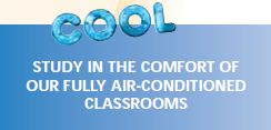 cool - study in our air conditioned classrooms